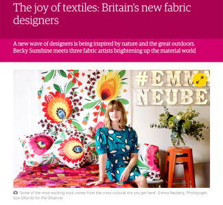 Emma Neuberg as 'one to watch' in The Guardian online, 2016
