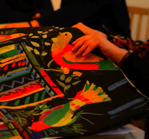 Sarah Campbell presents her 'My Nature' work to the Slow Textiles Group, 2013