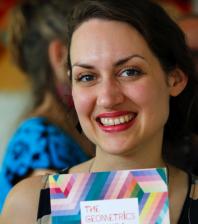 Lea Balducci at Slow Textiles Group event