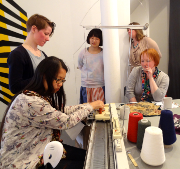Egle Vaitulevicuite with Fong Wong, Emily Rickard, Slow Textiles Group