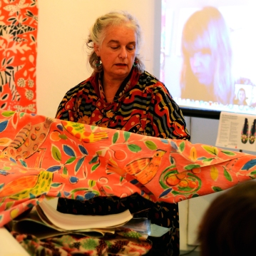 Sarah Campbell and Karin Holmberg at Slow Textiles Group My Nature event (designed, devised and delivered by Emma Neuberg)